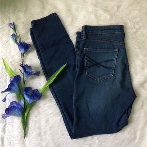 High waisted skinny jeans -stretchy